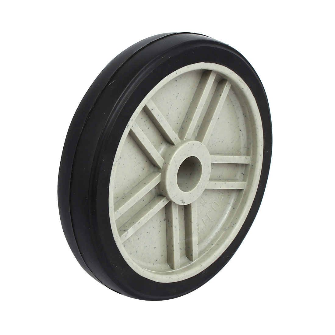190mm 7.5-inch Dia 25.8mm Inner Bore Plastic Air Compressor Wheel Black