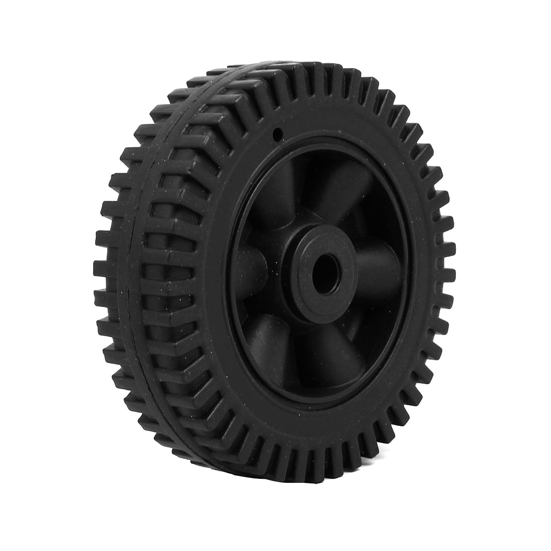 150mm 6-inch Dia 12.5mm Inner Bore Plastic Air Compressor Wheel Black