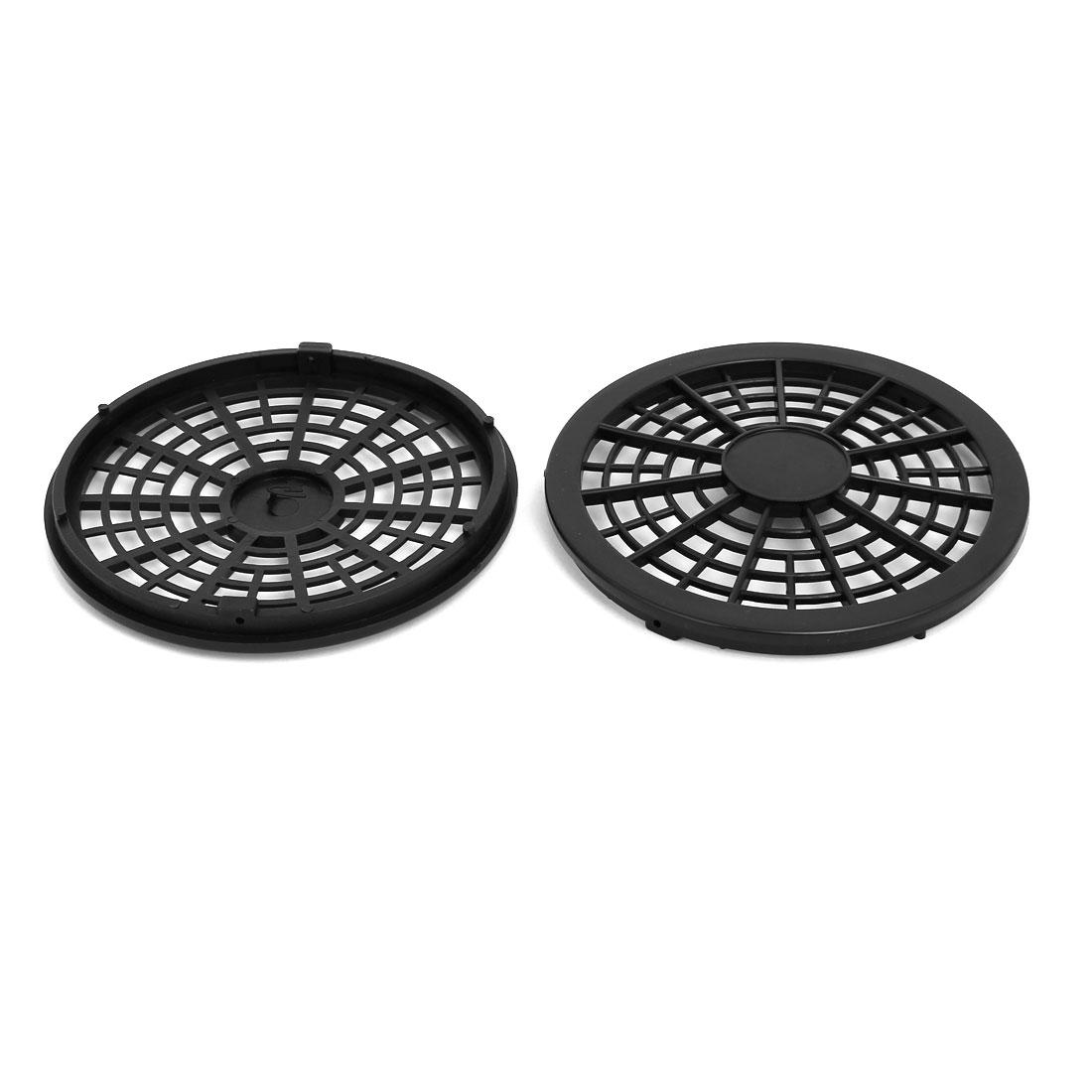 550W/750W 127mm Dia Plastic Air Compressor Replacement Fan Cover Black 2pcs
