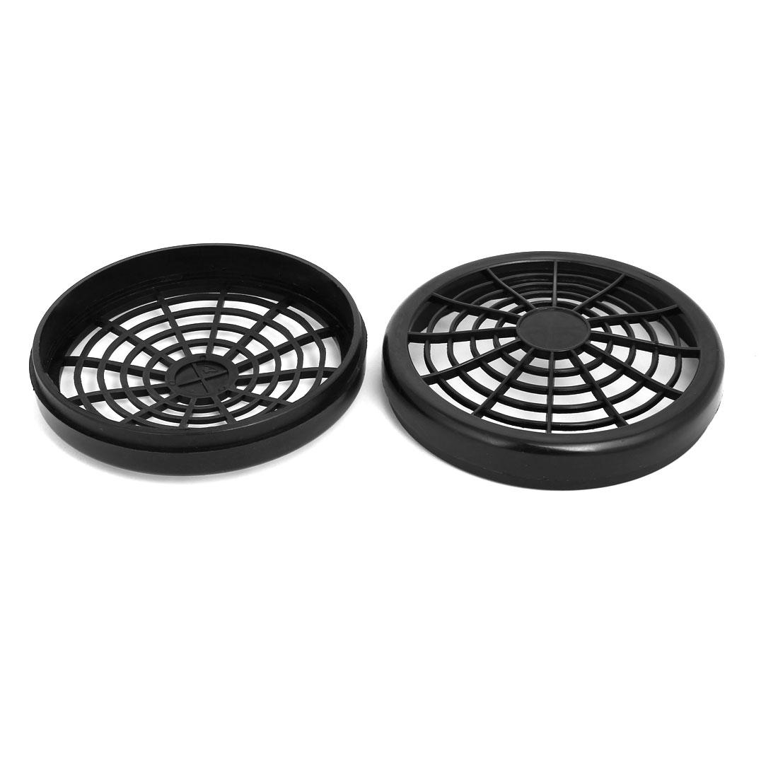 1100W/1500W 155mm Dia Plastic Air Compressor Replacement Fan Cover Black 2pcs