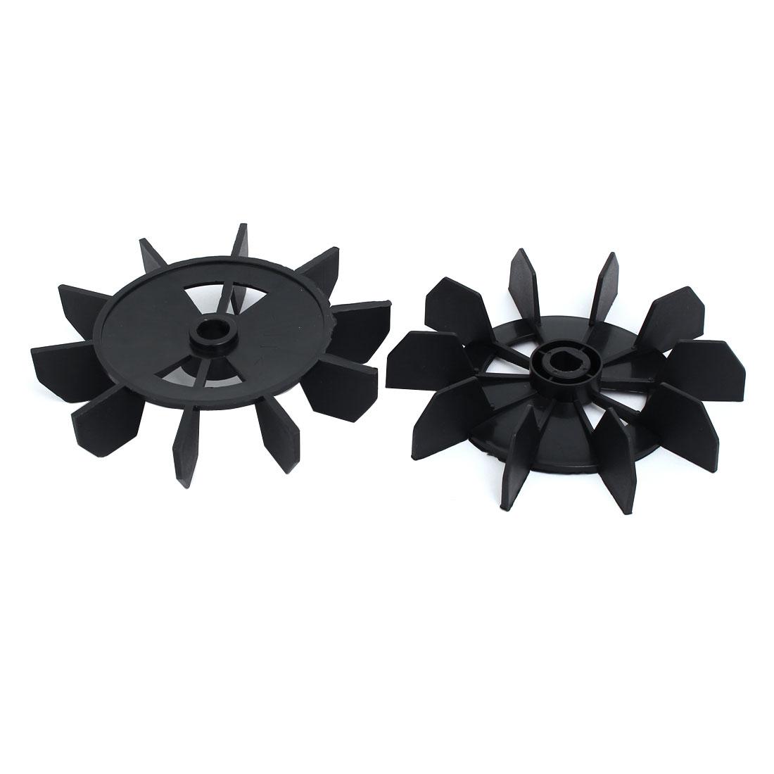 0.5-inch Inner Bore 150mm Dia Air Compressor Replacement Fan Black 2pcs