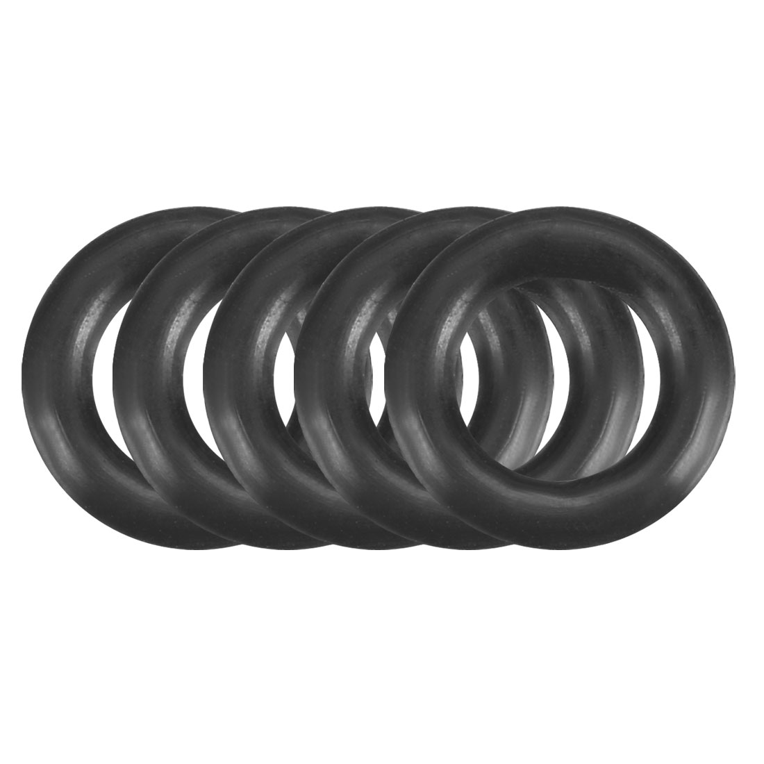 150Pcs 9mm x 1.9mm Black Flexible Nitrile Rubber O Ring Oil Seal Washer Grommets