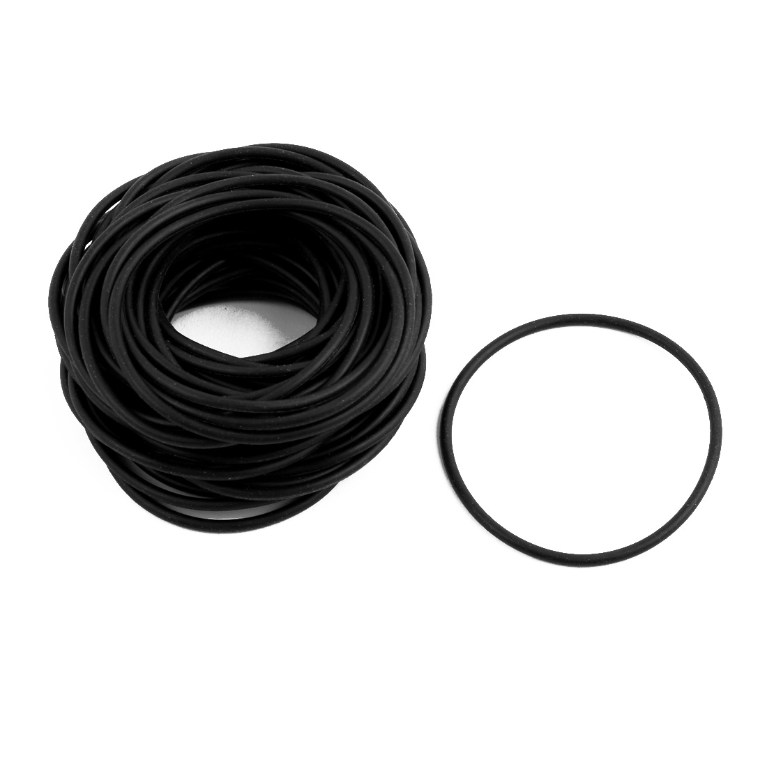 50Pcs 48mm x 1.9mm Black Flexible Nitrile Rubber O Ring Oil Seal Washer Grommets