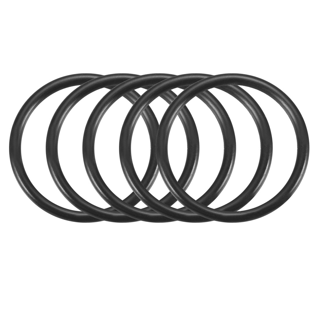 100Pcs 23mm x 1.9mm Black Flexible Nitrile Rubber O Ring Oil Seal Washer Grommets