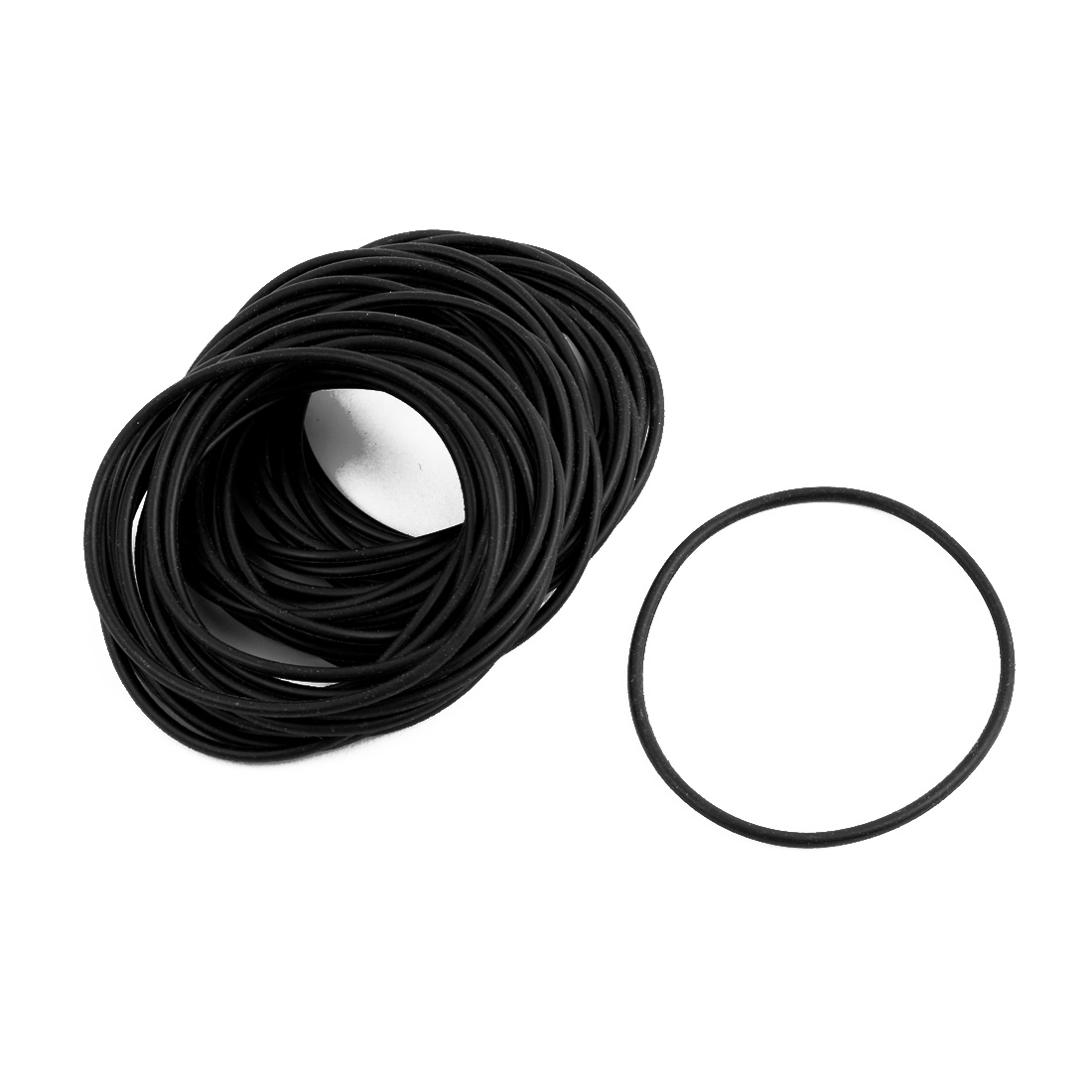 40pcs Black Round Nitrile Butadiene Rubber NBR O-Ring 51mm OD 1.9mm Width