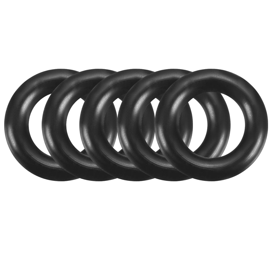 100Pcs 9mm x 1.9mm Black Flexible Nitrile Rubber O Ring Oil Seal Washer Grommets