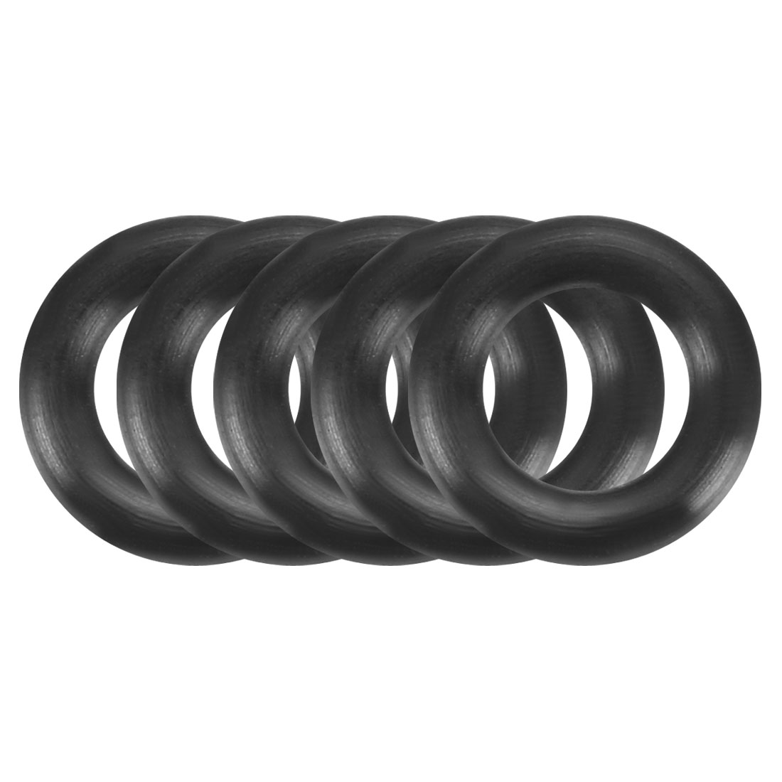 100Pcs 8.5mm x 1.9mm Black Flexible Nitrile Rubber O Ring Oil Seal Washer Grommets