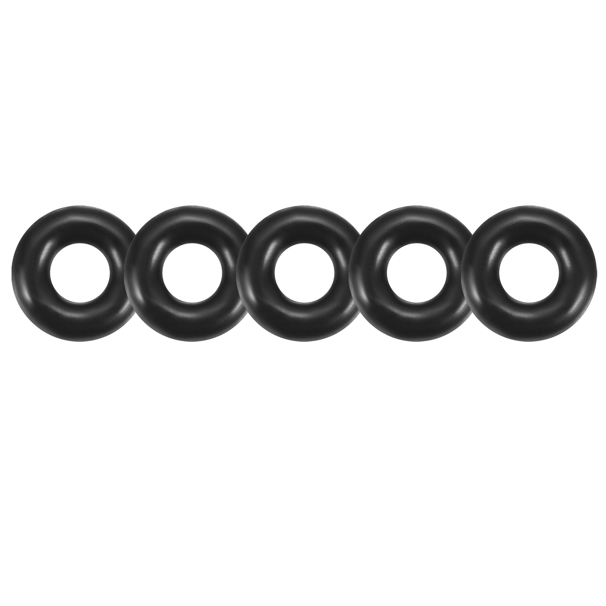 50pcs Black Round Nitrile Butadiene Rubber NBR O-Ring 6.5mm OD 1.9mm Width