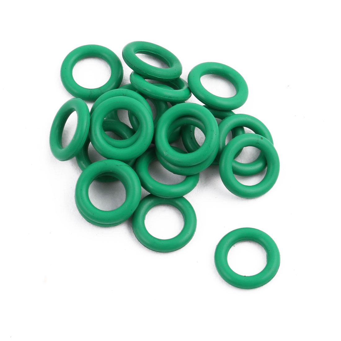 20pcs Green Round Nitrile Butadiene Rubber NBR O-Ring 7.5mm OD 1.5mm Width