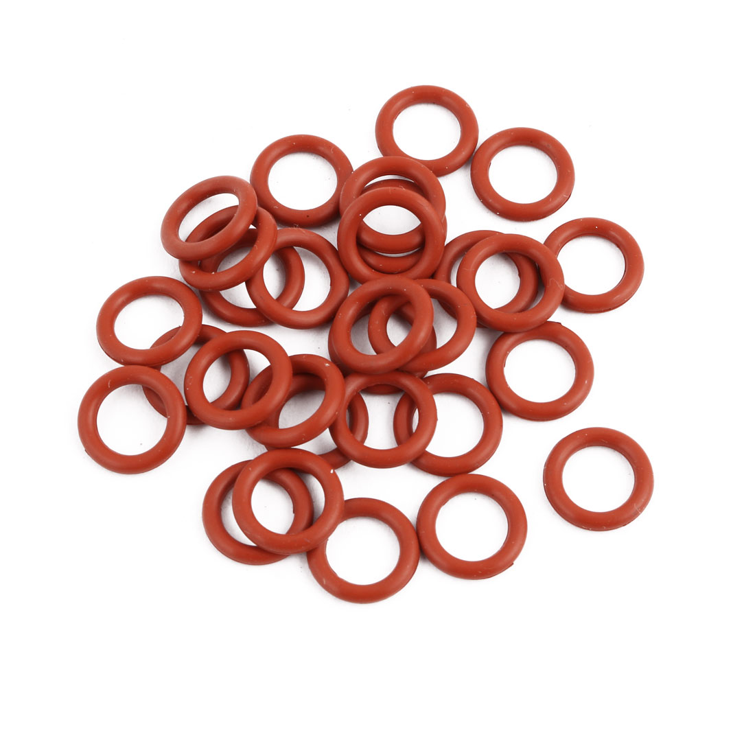 30pcs Red Round Nitrile Butadiene Rubber NBR O-Ring 11mm OD 1.9mm Width