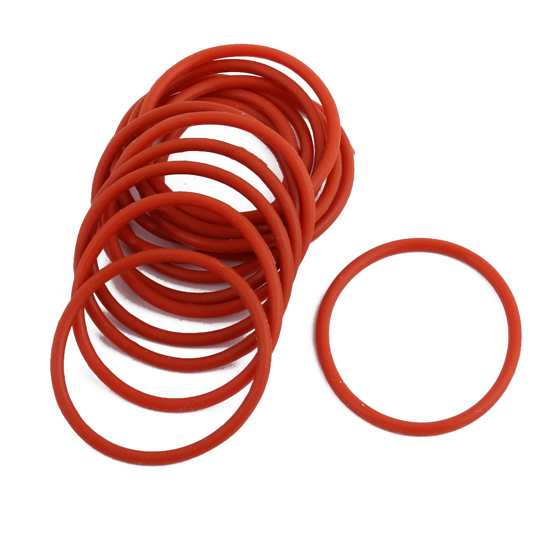 15pcs Red Round Nitrile Butadiene Rubber NBR O-Ring 31mm OD 1.9mm Width
