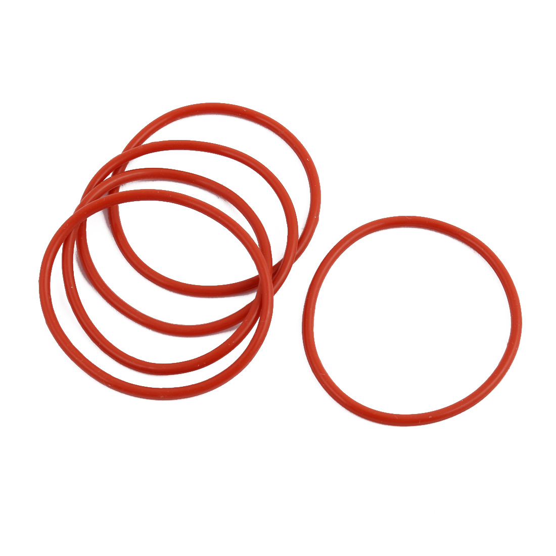 5pcs Red Round Nitrile Butadiene Rubber NBR O-Ring 40mm OD 1.9mm Width