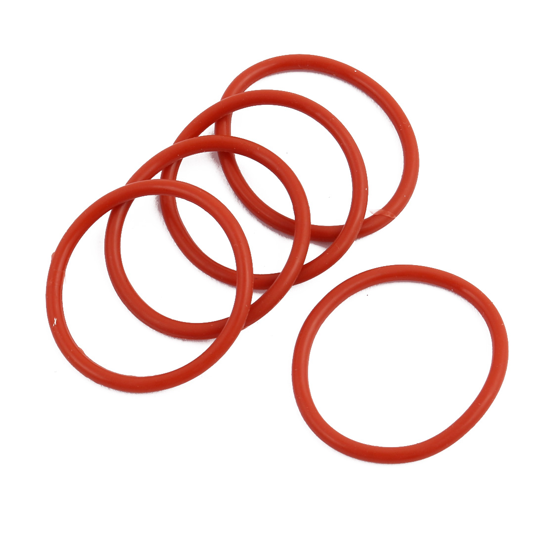 5Pcs Red Round Nitrile Butadiene Rubber NBR O-Ring 26mm OD 1.9mm Width