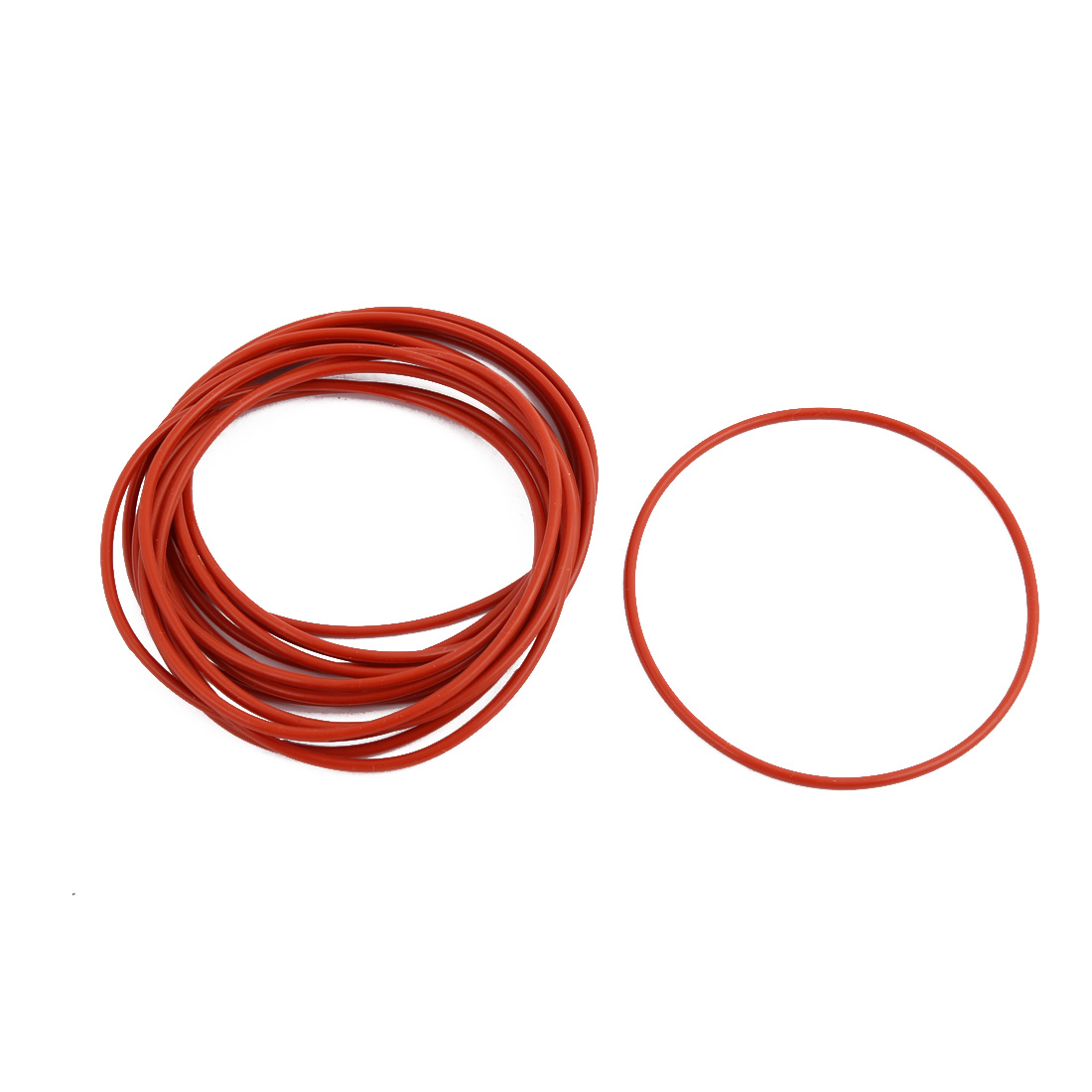 15pcs Red Round Nitrile Butadiene Rubber NBR O-Ring 70mm OD 1.9mm Width