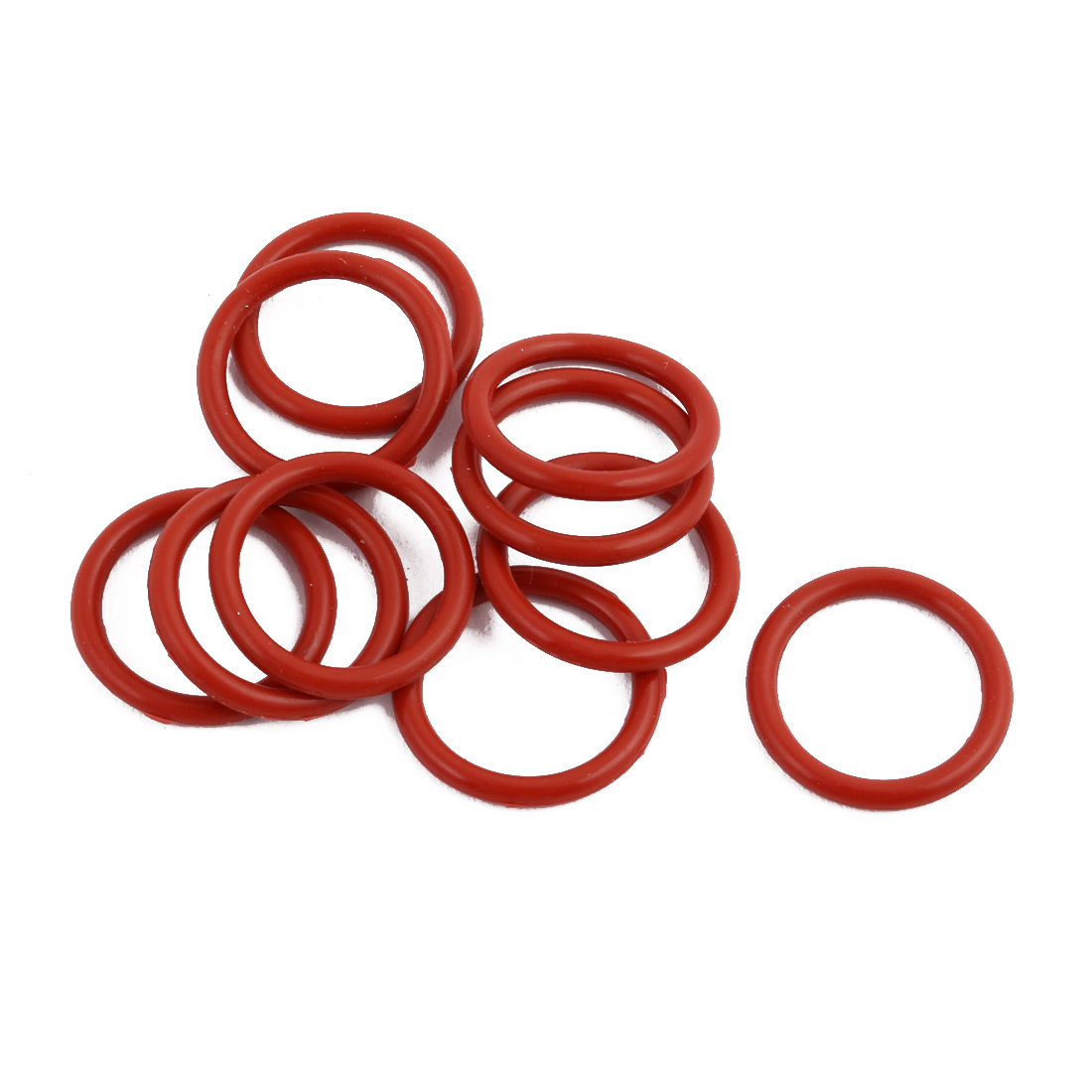 10Pcs Red Round Nitrile Butadiene Rubber NBR O-Ring 17mm OD 1.9mm Width