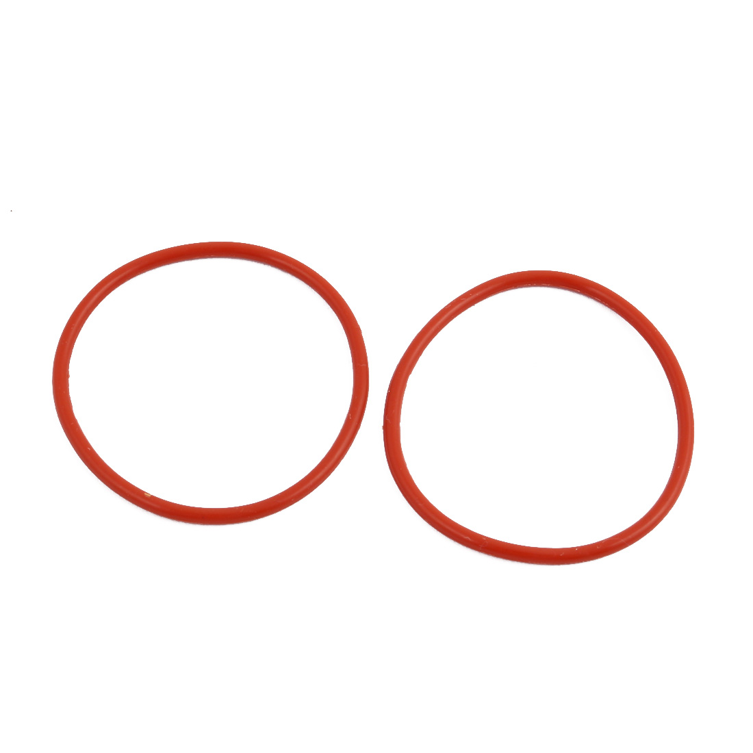 2pcs Red Round Nitrile Butadiene Rubber NBR O-Ring 40mm OD 1.9mm Width
