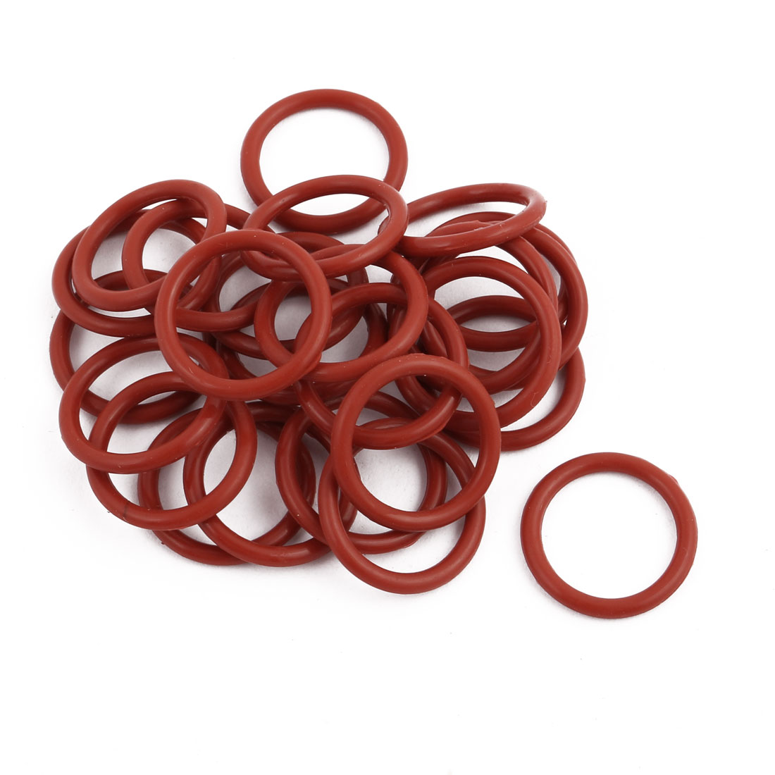 25Pcs Red Round Nitrile Butadiene Rubber NBR O-Ring 17mm OD 1.9mm Width
