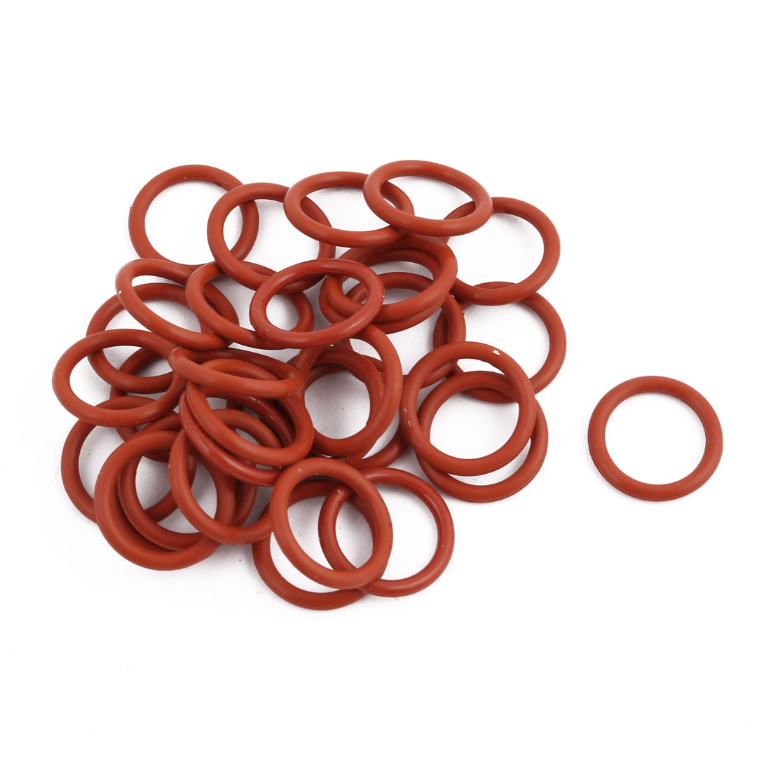 30Pcs Red Round Nitrile Butadiene Rubber NBR O-Ring 15mm OD 1.9mm Width