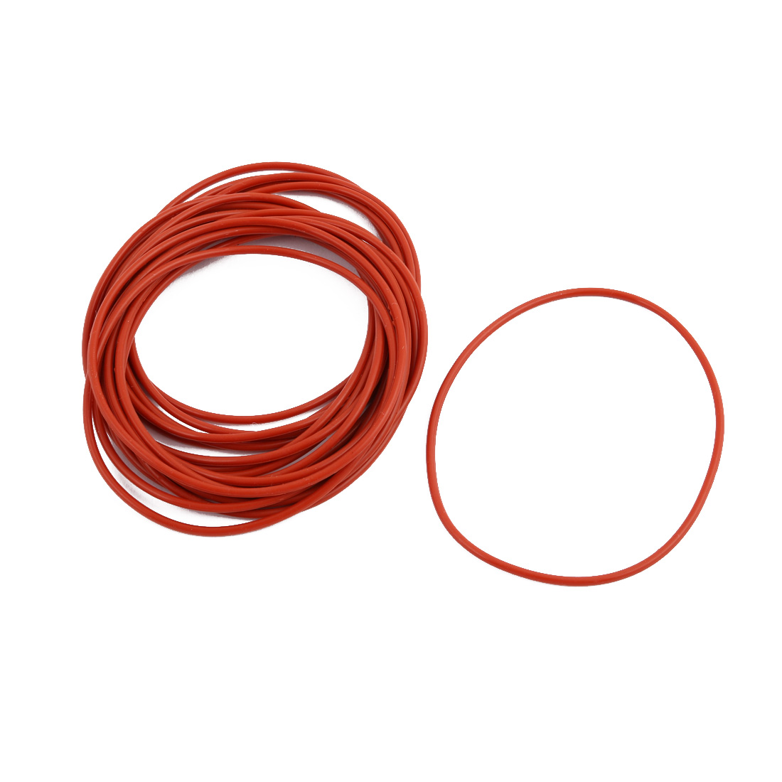 20pcs Red Round Nitrile Butadiene Rubber NBR O-Ring 70mm OD 1.9mm Width