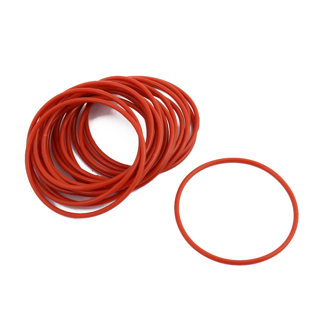20Pcs Red Round Nitrile Butadiene Rubber NBR O-Ring 50mm OD 1.9mm Width