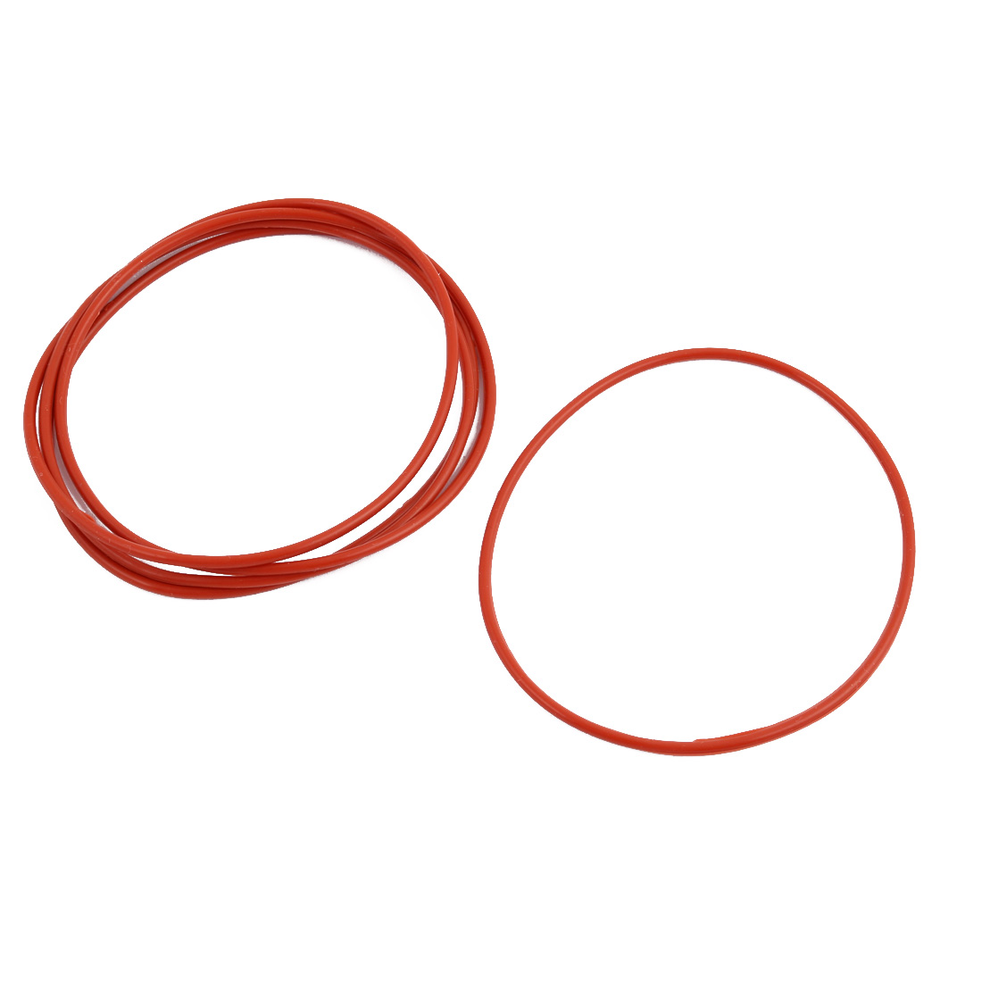 5Pcs Red Round Nitrile Butadiene Rubber NBR O-Ring 70mm OD 1.9mm Width