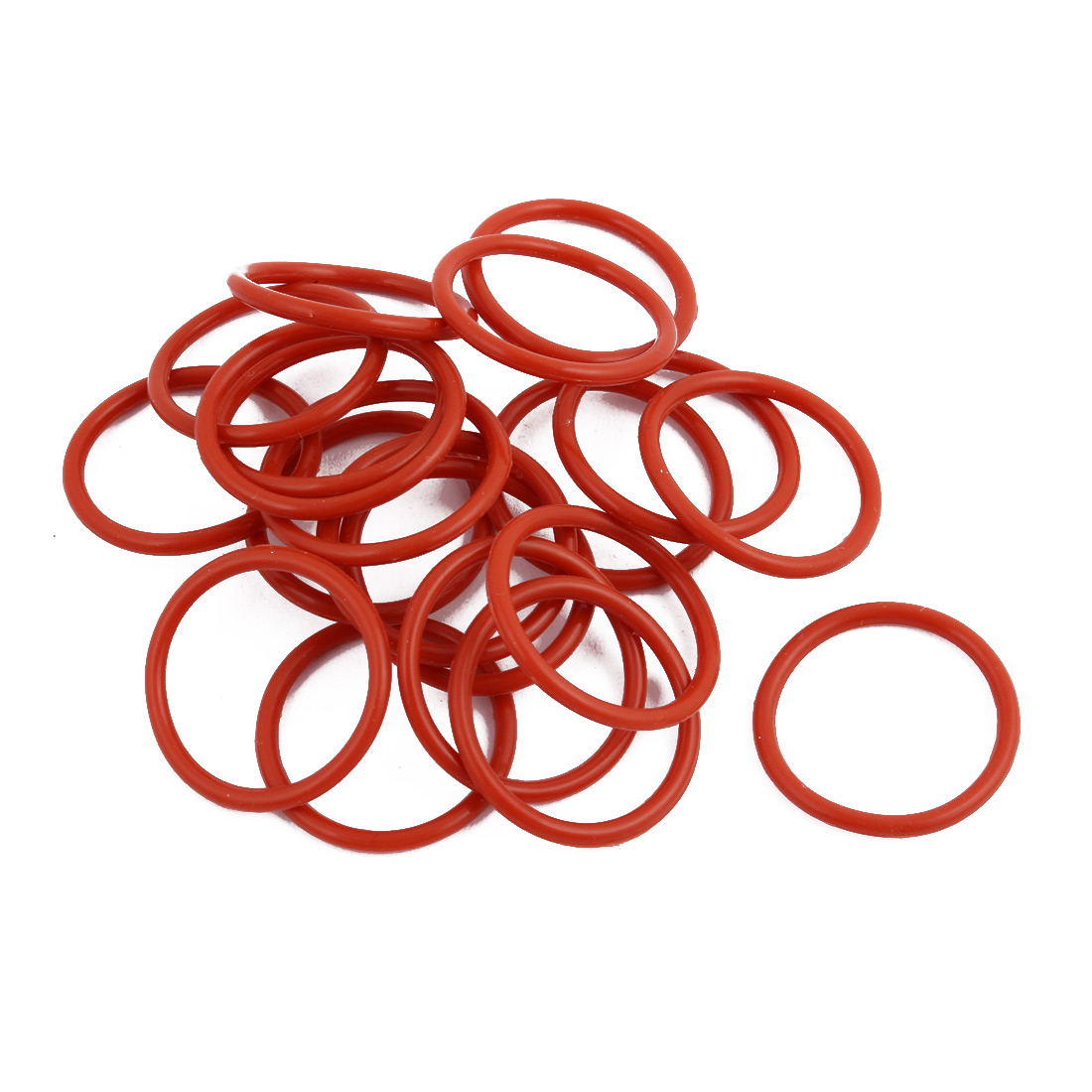 20Pcs Red Round Nitrile Butadiene Rubber NBR O-Ring 23mm OD 1.9mm Width