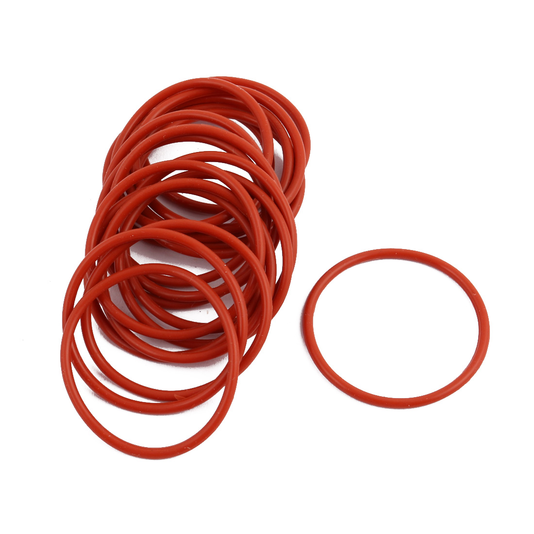 19pcs Red Round Nitrile Butadiene Rubber NBR O-Ring 32mm OD 1.9mm Width