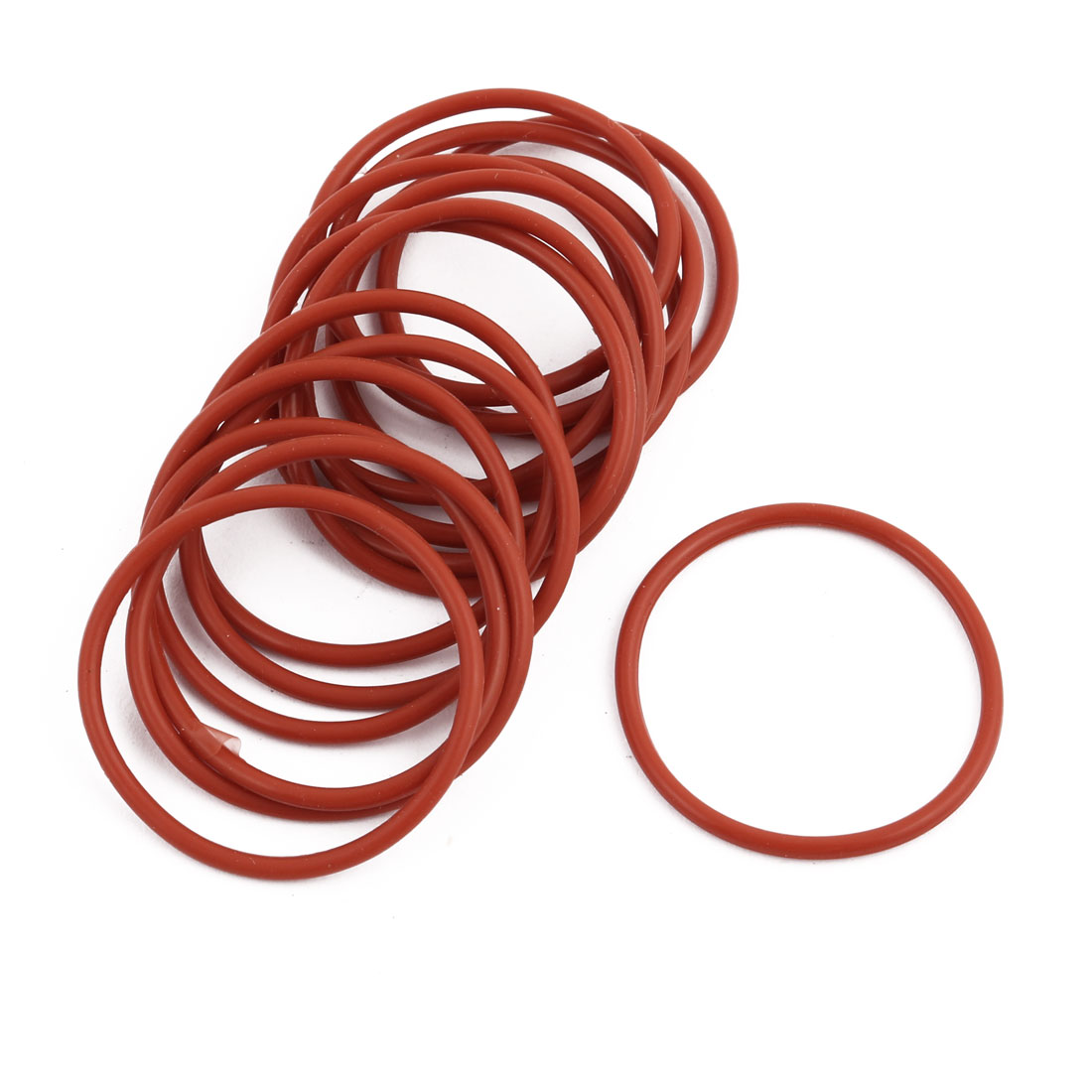 15pcs Red Round Nitrile Butadiene Rubber NBR O-Ring 32mm OD 1.9mm Width