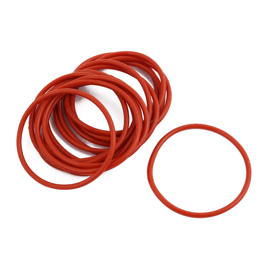15pcs Red Round Nitrile Butadiene Rubber NBR O-Ring 40mm OD 1.9mm Width