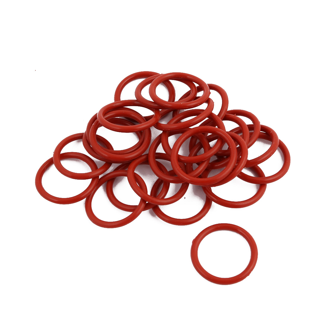 25Pcs Red Round Nitrile Butadiene Rubber NBR O-Ring 18mm OD 1.9mm Width