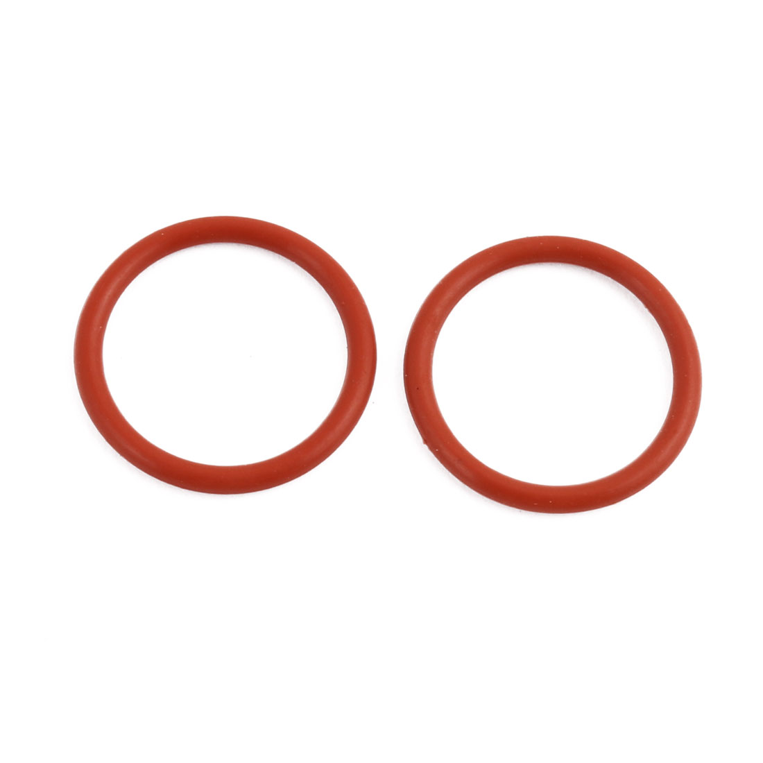 2Pcs Red Round Nitrile Butadiene Rubber NBR O-Ring 20mm OD 1.9mm Width