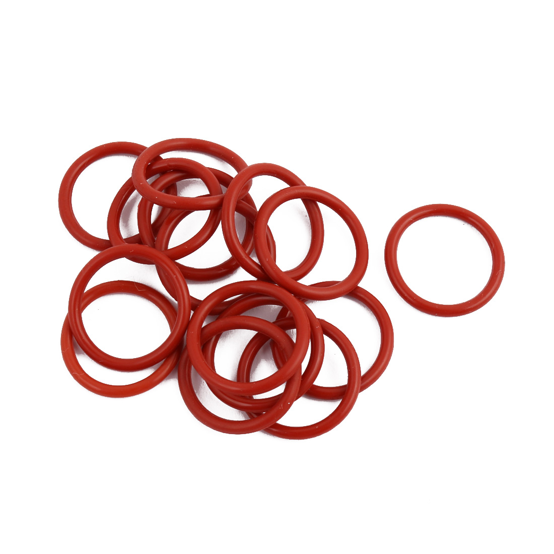 15pcs Red Round Nitrile Butadiene Rubber NBR O-Ring 18mm OD 1.9mm Width