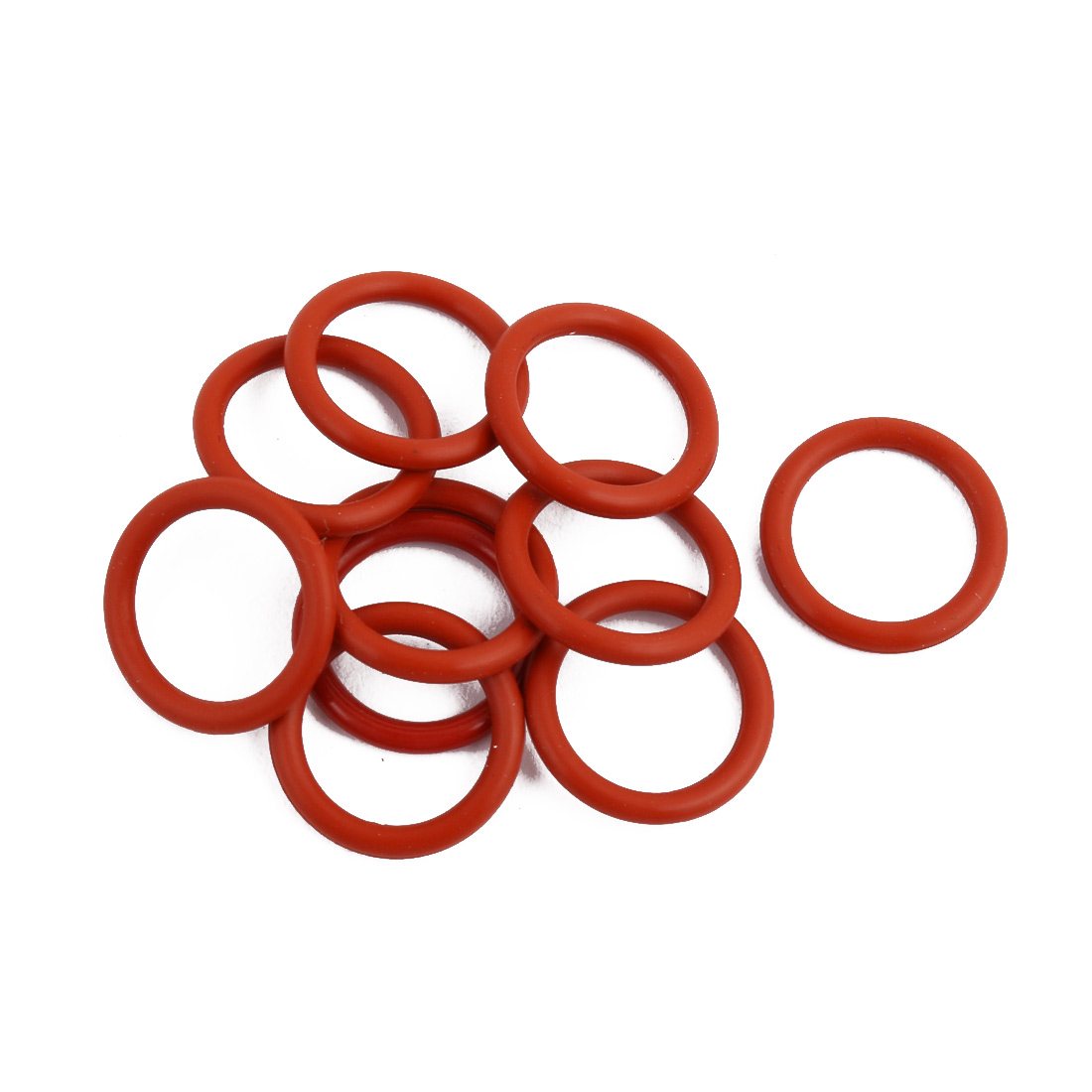 10Pcs Red Round Nitrile Butadiene Rubber NBR O-Ring 15mm OD 1.9mm Width