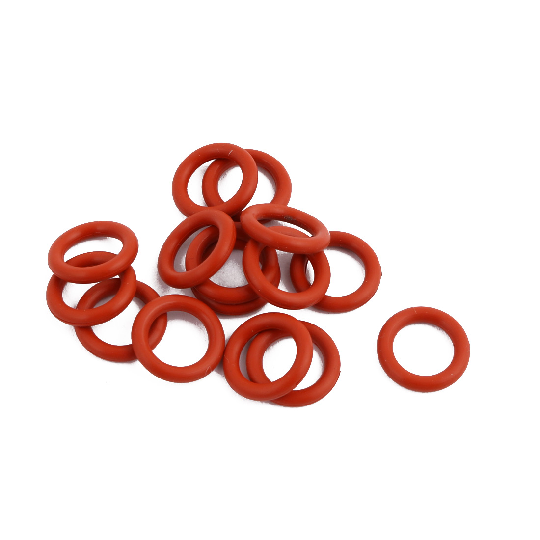 15Pcs Red Round Nitrile Butadiene Rubber NBR O-Ring 11mm OD 1.9mm Width