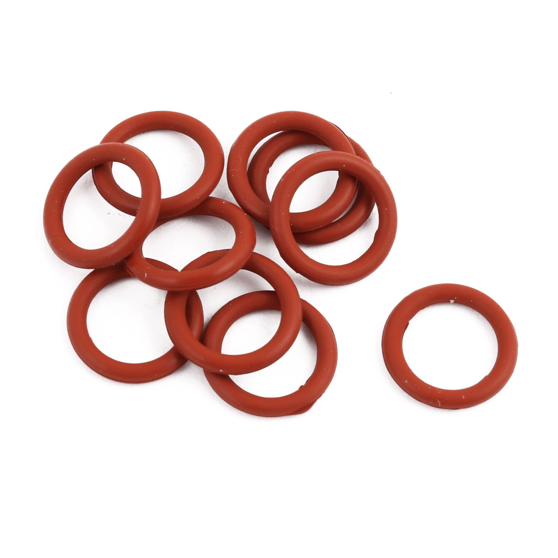 10Pcs Red Round Nitrile Butadiene Rubber NBR O-Ring 13mm OD 1.9mm Width