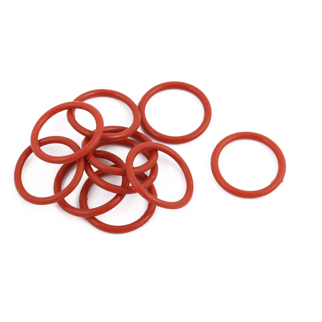 10Pcs Red Round Nitrile Butadiene Rubber NBR O-Ring 19mm OD 1.9mm Width