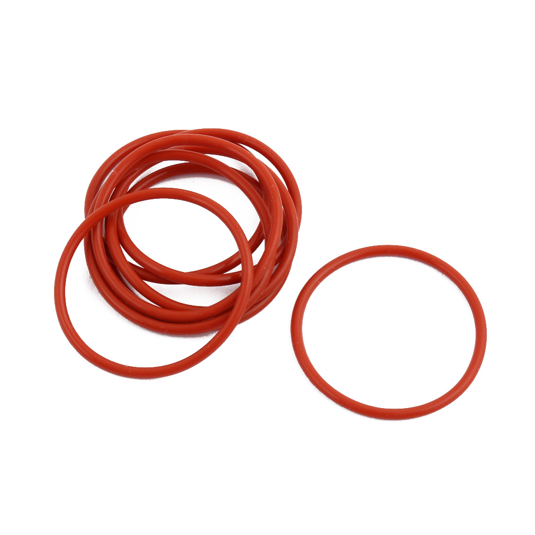 10Pcs Red Round Nitrile Butadiene Rubber NBR O-Ring 32mm OD 1.9mm Width