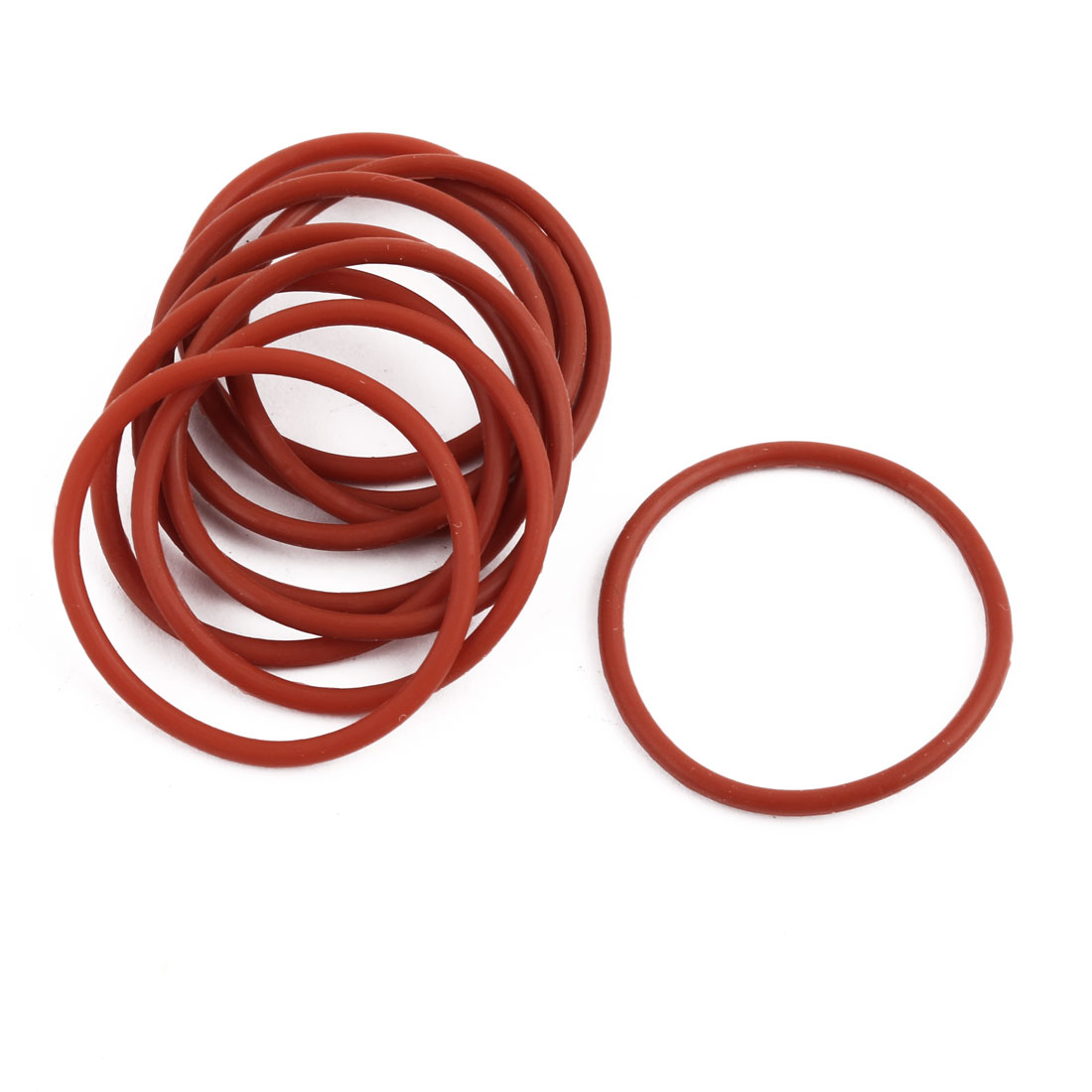 10pcs Red Round Nitrile Butadiene Rubber NBR O-Ring 31mm OD 1.9mm Width