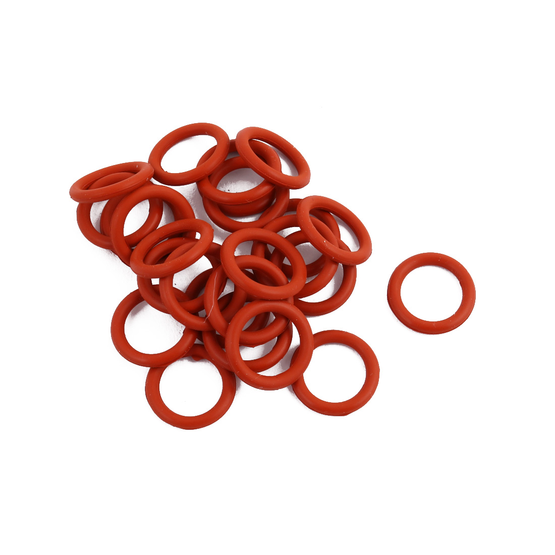 25pcs Red Round Nitrile Butadiene Rubber NBR O-Ring 13mm OD 1.9mm Width