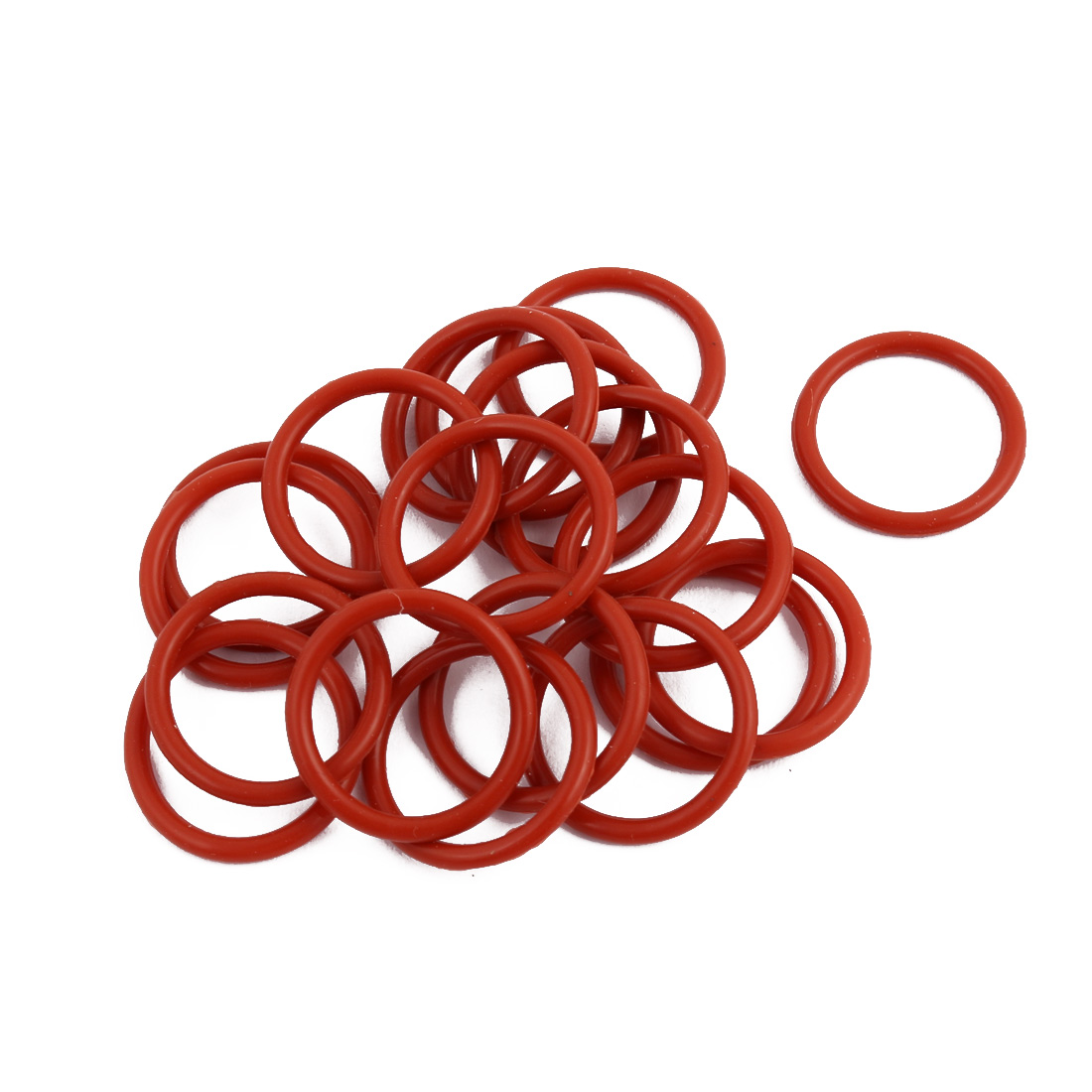 20pcs Red Round Nitrile Butadiene Rubber NBR O-Ring 19mm OD 1.9mm Width