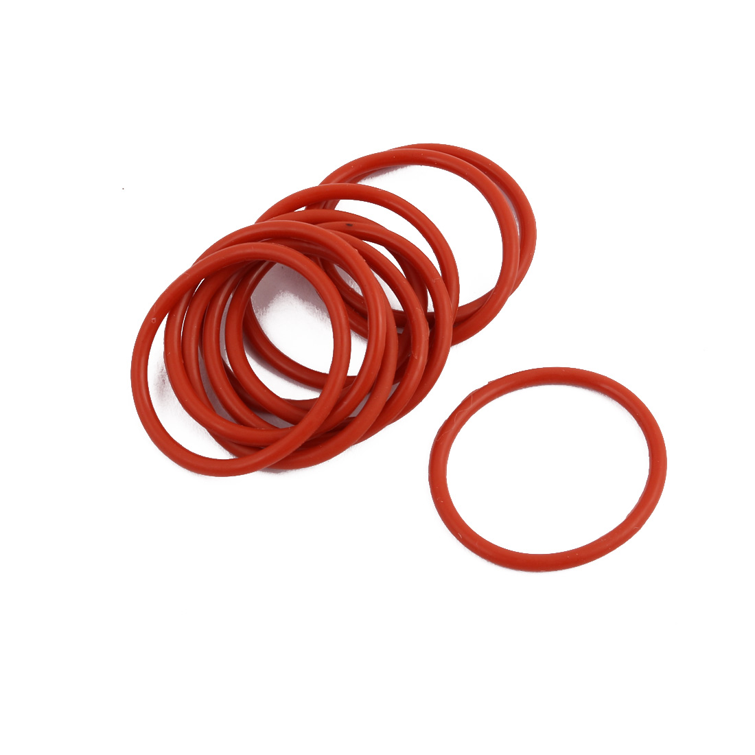 10pcs Red Round Nitrile Butadiene Rubber NBR O-Ring 26mm OD 1.9mm Width