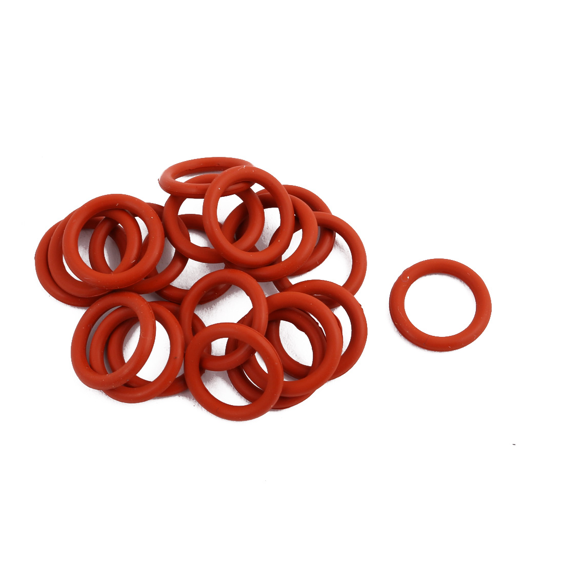 20Pcs Red Round Nitrile Butadiene Rubber NBR O-Ring 13mm OD 1.9mm Width