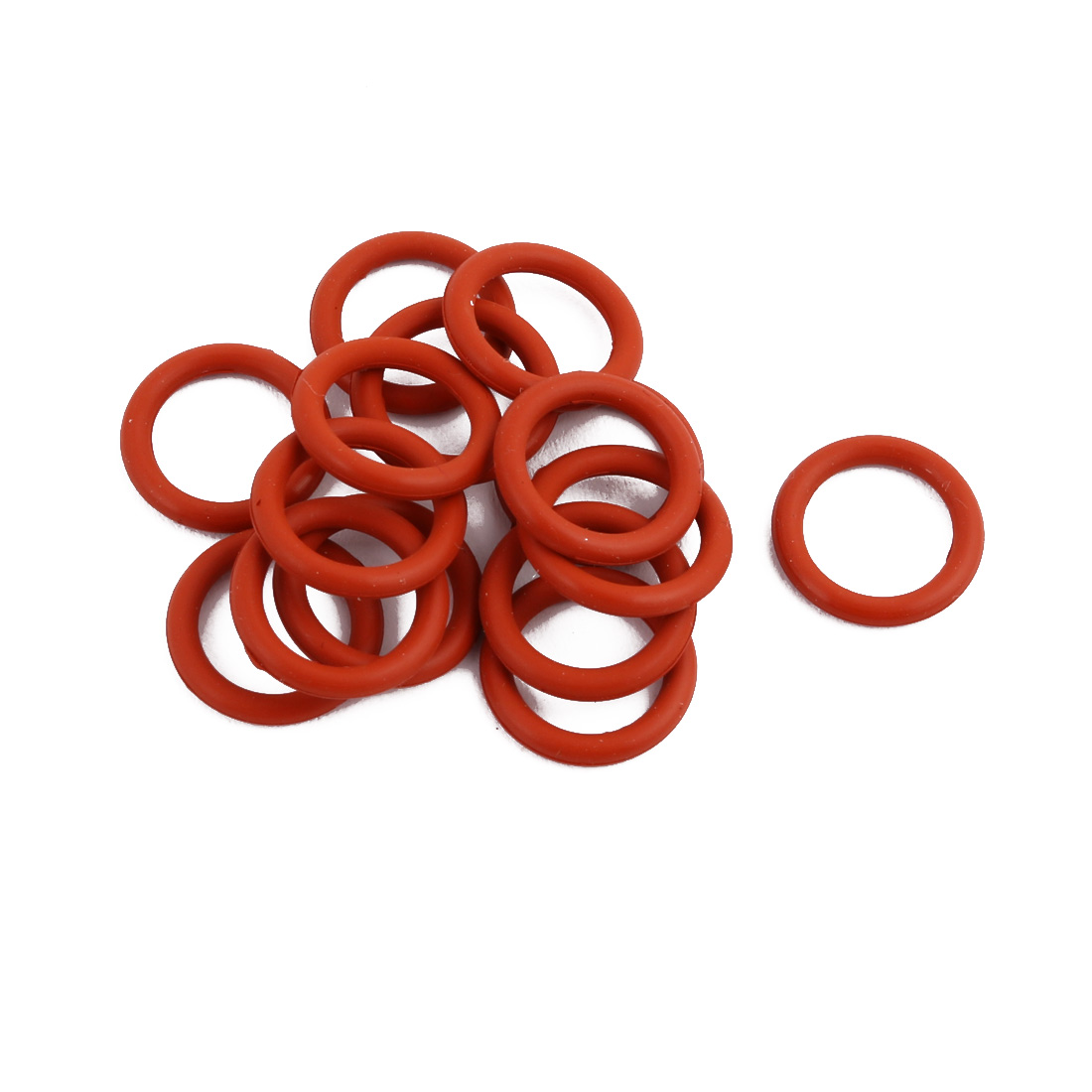 15Pcs Red Round Nitrile Butadiene Rubber NBR O-Ring 13mm OD 1.9mm Width