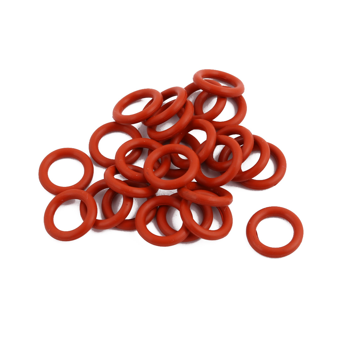 25Pcs Red Round Nitrile Butadiene Rubber NBR O-Ring 11mm OD 1.9mm Width