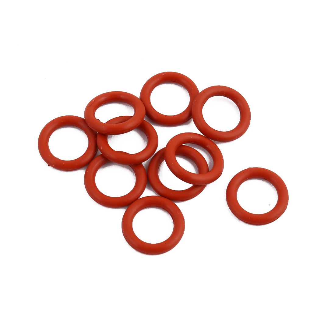 10Pcs Red Round Nitrile Butadiene Rubber NBR O-Ring 11mm OD 1.9mm Width