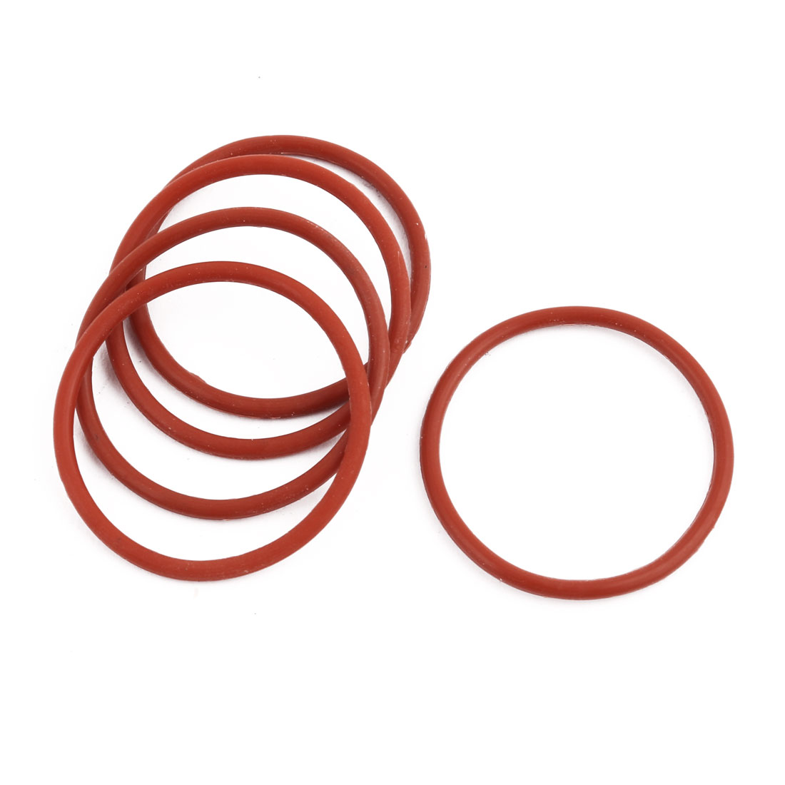 5pcs Red Round Nitrile Butadiene Rubber NBR O-Ring 31mm OD 1.9mm Width