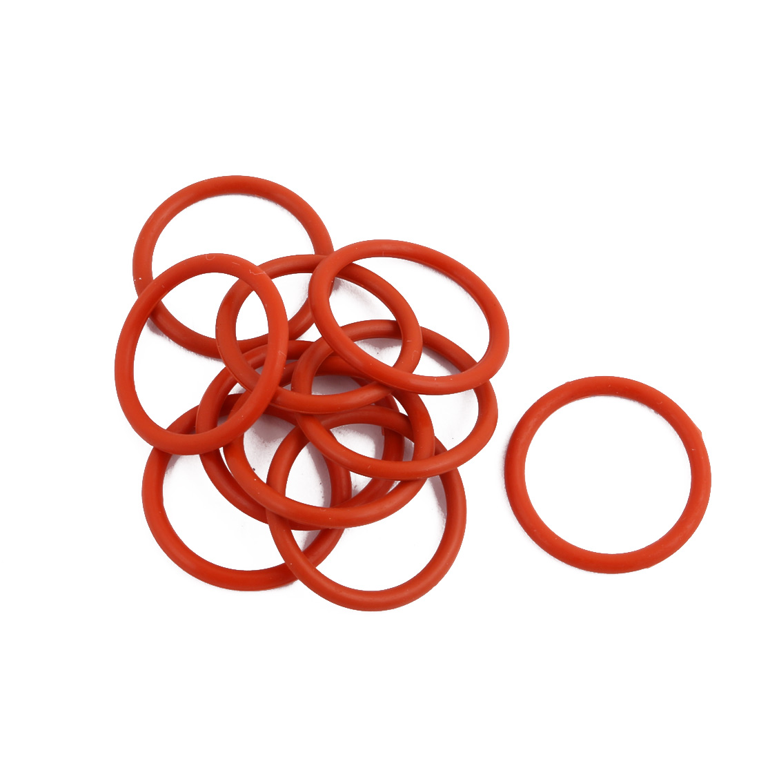 10Pcs Red Round Nitrile Butadiene Rubber NBR O-Ring 20mm OD 1.9mm Width