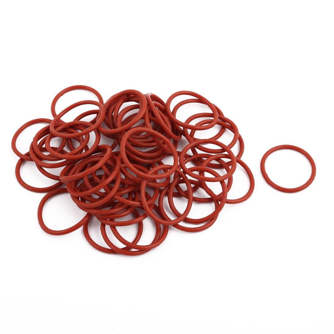 50pcs Red Round Nitrile Butadiene Rubber NBR O-Ring 24mm OD 1.9mm Width