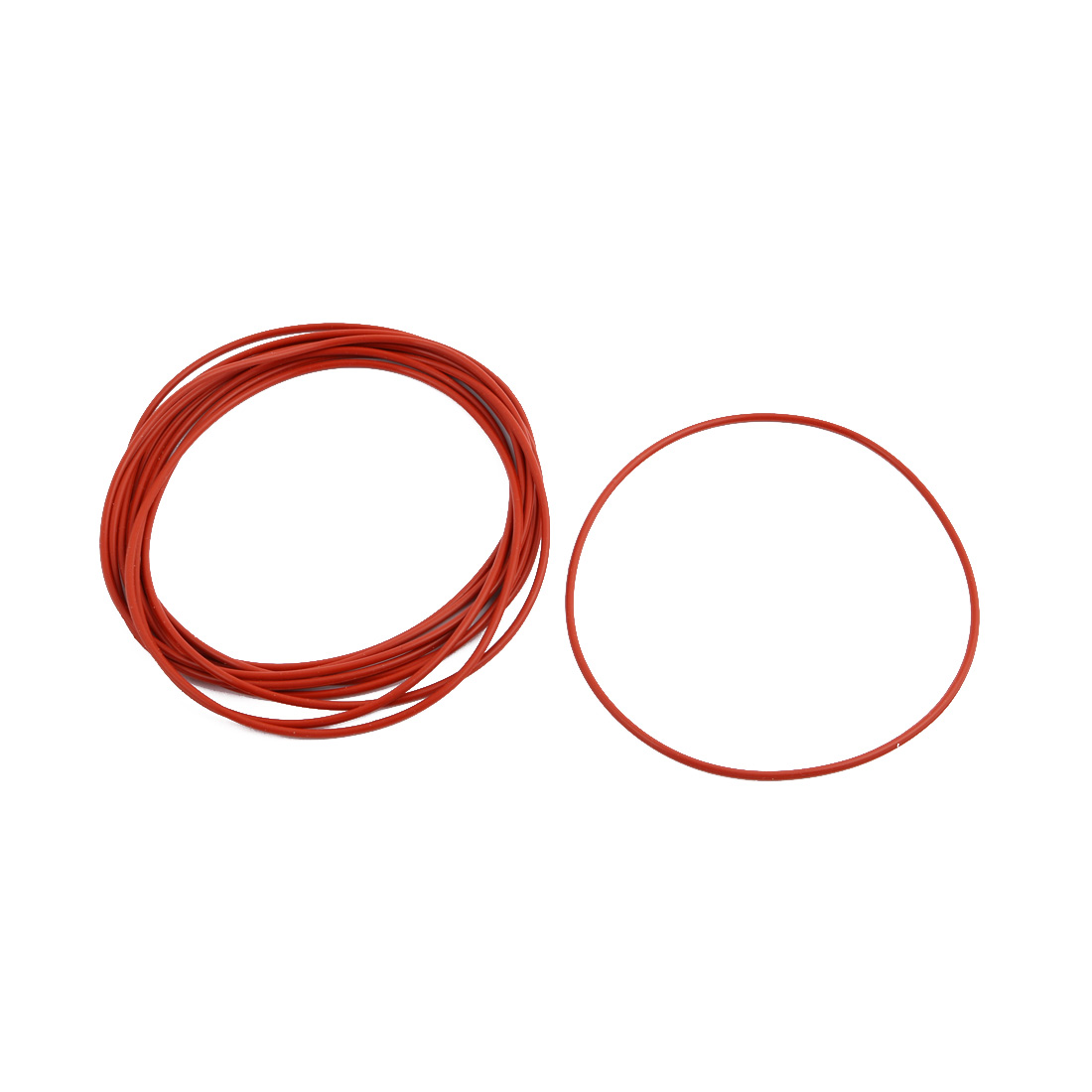 10Pcs Red Round Nitrile Butadiene Rubber NBR O-Ring 95mm OD 1.9mm Width