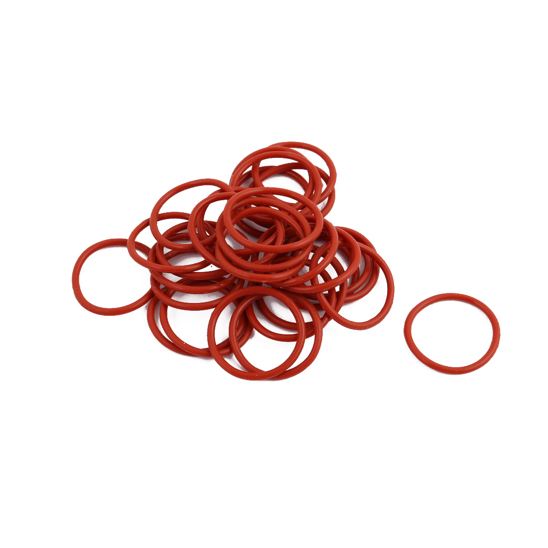 30pcs Red Round Nitrile Butadiene Rubber NBR O-Ring 24mm OD 1.9mm Width